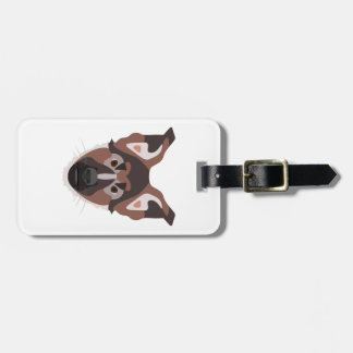 Illustration dogs face German Shepherd Luggage Tag
