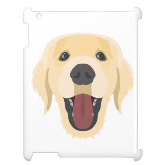 Illustration dogs face Golden Retriver Cover For The iPad 2 3 4