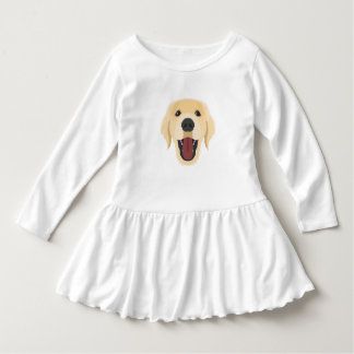 Illustration dogs face Golden Retriver Dress