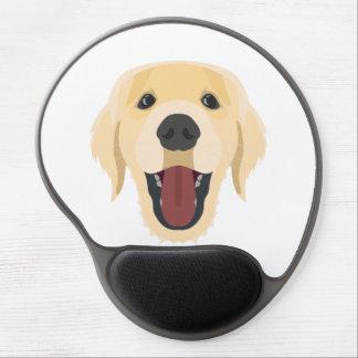 Illustration dogs face Golden Retriver Gel Mouse Pad