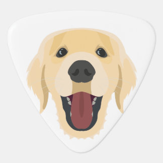 Illustration dogs face Golden Retriver Guitar Pick