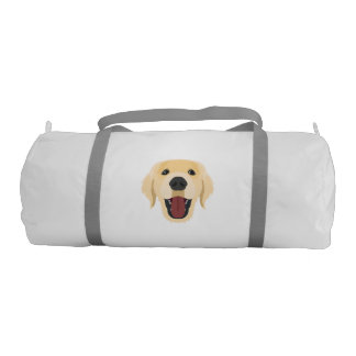 Illustration dogs face Golden Retriver Gym Bag