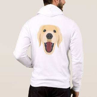 Illustration dogs face Golden Retriver Hoodie