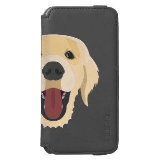 Illustration dogs face Golden Retriver Incipio Watson™ iPhone 6 Wallet Case