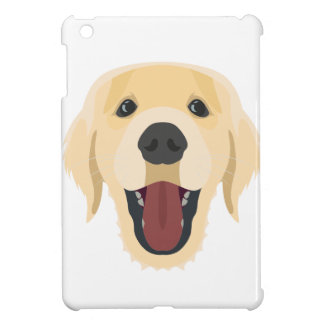 Illustration dogs face Golden Retriver iPad Mini Cover