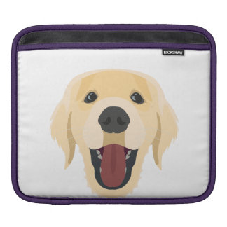 Illustration dogs face Golden Retriver iPad Sleeve