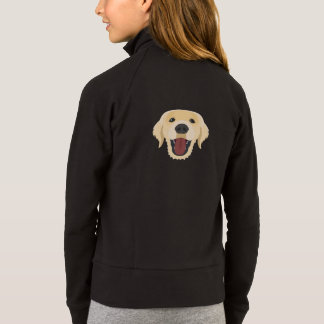 Illustration dogs face Golden Retriver Jacket
