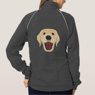 Illustration dogs face Golden Retriver Jacket