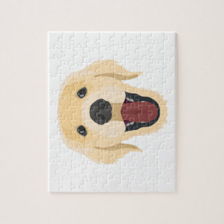 Illustration dogs face Golden Retriver Jigsaw Puzzle