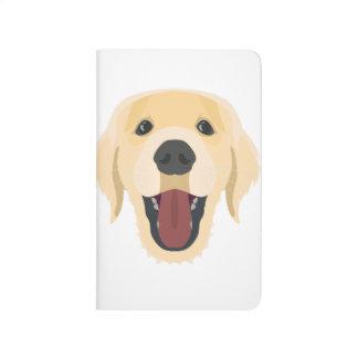 Illustration dogs face Golden Retriver Journal
