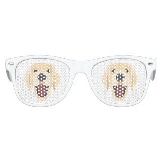 Illustration dogs face Golden Retriver Kids Sunglasses