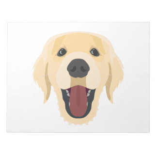 Illustration dogs face Golden Retriver Notepad