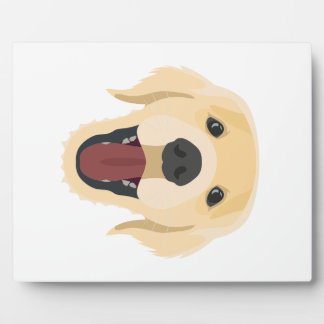 Illustration dogs face Golden Retriver Plaque