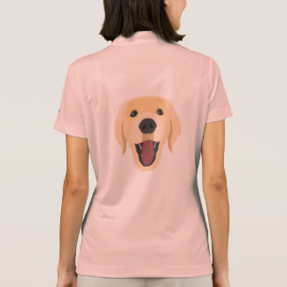 Illustration dogs face Golden Retriver Polo Shirt