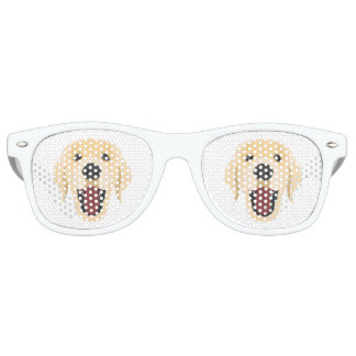 Illustration dogs face Golden Retriver Retro Sunglasses