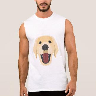 Illustration dogs face Golden Retriver Sleeveless Shirt