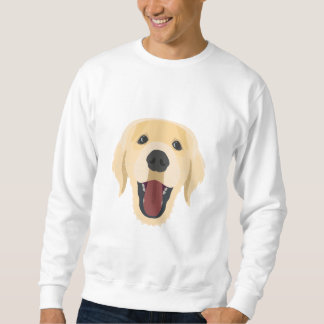 Illustration dogs face Golden Retriver Sweatshirt