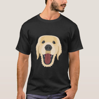 Illustration dogs face Golden Retriver T-Shirt