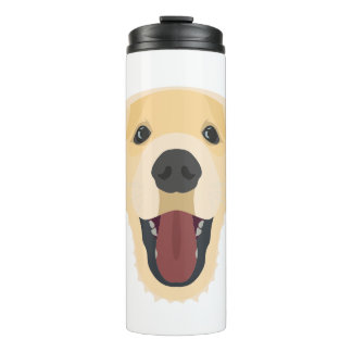 Illustration dogs face Golden Retriver Thermal Tumbler