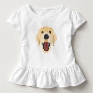 Illustration dogs face Golden Retriver Toddler T-shirt