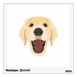 Illustration dogs face Golden Retriver Wall Decal