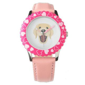 Illustration dogs face Golden Retriver Watch