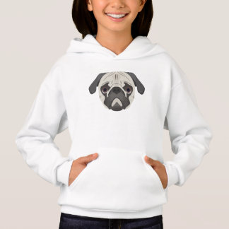 Illustration dogs face Pug