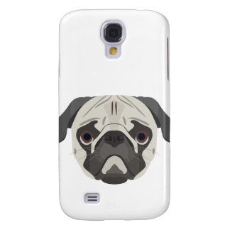Illustration dogs face Pug