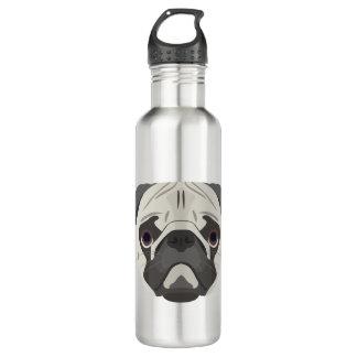 Illustration dogs face Pug 710 Ml Water Bottle