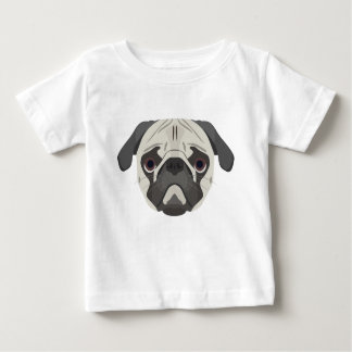 Illustration dogs face Pug Baby T-Shirt