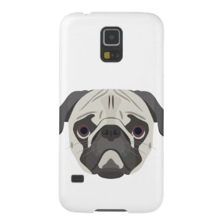 Illustration dogs face Pug Cases For Galaxy S5