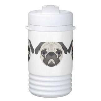 Illustration dogs face Pug Cooler