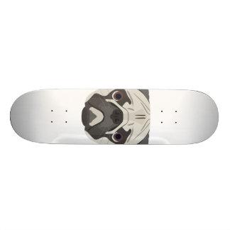 Illustration dogs face Pug Custom Skate Board