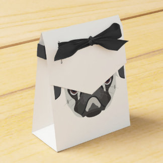 Illustration dogs face Pug Favor Box