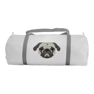 Illustration dogs face Pug Gym Bag
