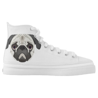 Illustration dogs face Pug High Tops