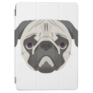 Illustration dogs face Pug iPad Air Cover