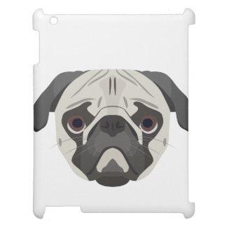 Illustration dogs face Pug iPad Case