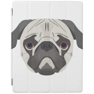 Illustration dogs face Pug iPad Cover