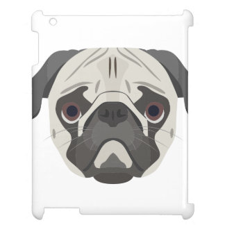 Illustration dogs face Pug iPad Covers