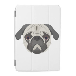 Illustration dogs face Pug iPad Mini Cover