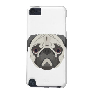 Illustration dogs face Pug iPod Touch 5G Case