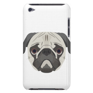 Illustration dogs face Pug iPod Touch Case-Mate Case