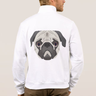 Illustration dogs face Pug Jacket