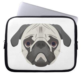 Illustration dogs face Pug Laptop Sleeve