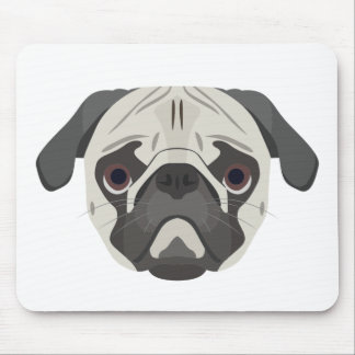 Illustration dogs face Pug Mouse Pad