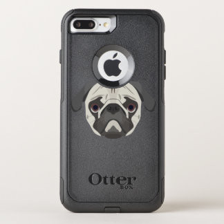Illustration dogs face Pug OtterBox Commuter iPhone 8 Plus/7 Plus Case