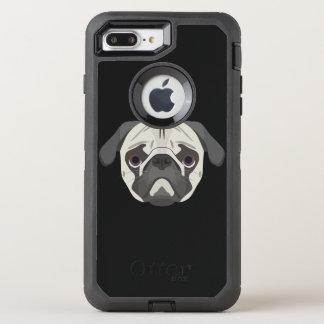 Illustration dogs face Pug OtterBox Defender iPhone 8 Plus/7 Plus Case