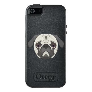 Illustration dogs face Pug OtterBox iPhone 5/5s/SE Case