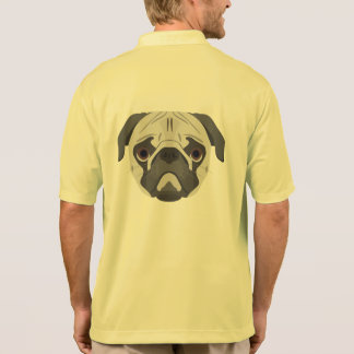 Illustration dogs face Pug Polo Shirt